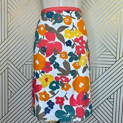 Boden Multi Island Bloom Bright Floral Print Pencil Skirt WG430 Cotton Size 6 $35.99