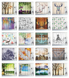 Shower Curtain Fabric Decor for Bathroom with Hooks Ambesonne Mix 70 Inches Long $17.90