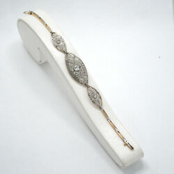 BRACELET ART DECO 18K GOLD PLATINUM AND DIAMONDS 1.00 CT.  MAGNIFIC DESIGN!!
