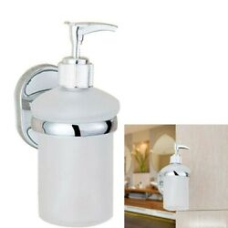 1pc Wall Mount Stainless Steel Manual Lotion Liquid Soap Dispenser Pump for Home