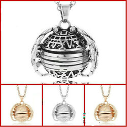 Expanding Photo Locket Necklace Pendant Angel Wings Gift Jewelry Decoration US
