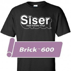 Siser Brick® 600 Heat Transfer Vinyl for T Shirts 20quot; by Foot Yard Roll s $18.99