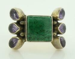 Vintage Signed NB (Nicky Butler) Sterling Multi Color Stone RIng Sz 7 ~ 56816