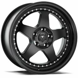 SET OF 4 NEW VENOM WHEELS 11 17X8 5X120 +30 SATIN BLACK