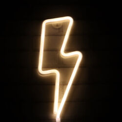 Lightning Neon Light Sign Night Light Operated by USB Battery Kids Room Decor $13.99