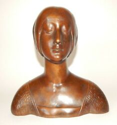 Rookwood Electroplated Bronze Pottery Bust