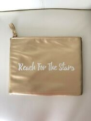 Gold Reach For The Stars statement travel makeup bag 9.25 x 7.5 x 0.5 $2.99
