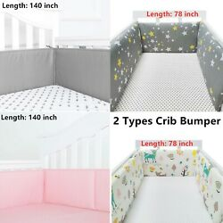 Breathable Baby Crib Bumper Mesh for Cradle newborn Crib Pads 78 inch $25.99