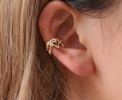 Ear Cuff Earrings No Piercing Clip On Ear Silver Or Gold Color $4.95