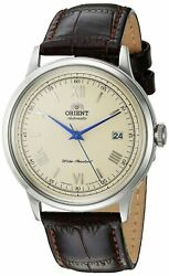Orient Men#x27;s 2nd Gen. V.2 Automatic Stainless Steel amp; Leather Watch FAC00009N0 $114.00