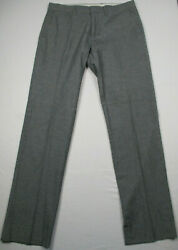 J Crew Bedford Slim Gray Flat Front Dress Pants size 32 x 34