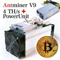 6x New Bitmain Antminer V9 4THs Bitcoin Bitcoin Cash ASIC Miner with APW3++ PSU