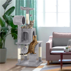 51quot; Cat Tree Bed Furniture Scratching Tower Post Condo Kitten Pet Play House $49.69