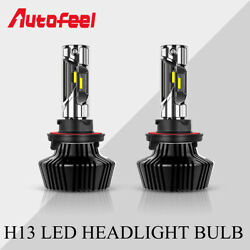4-Sides Pair H13 9008 LED Headlight Bulb High Low Beam White 6000K Waterproof UD