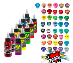 MOMS Tattoo Inks Single Individual 12 oz Bottles Pick Color Authentic 92 Tones $8.54