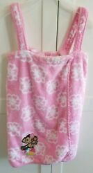 Girl#x27;s Terry cloth beach cover up pink L 10 12 EUC $12.00