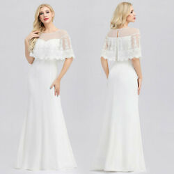 Ever pretty US White Lace Evening Cocktail Dresses Homecoming Party Prom Gowns $44.99