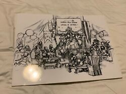 ODD CONCEPT ARTWORK WISH UPON A STAR LOTS OF DISNEY CHARACTERS GREAT CONCEPT ART $39.99