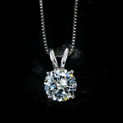 ORIGINAL UMODE 18K White Gold Plated Zirconia Necklace Women Solitaire Pendant