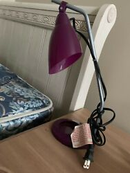NEW Flexible Desk Lamp with Office Supply Tray. PURPLE Light Bulb Included  $11.00