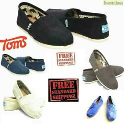 Toms Men#x27;s Classics Canvas Shoes Slip On Comfortable Original NEW WITHOUT BOX $19.95