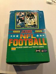 1989 Score Football Sealed Pack 15 Cards - Barry Sanders Troy Aikman RC's