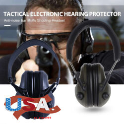 Electronic Ear Muffs Hearing Protection Noise Cancelling Shooting Hunting Range