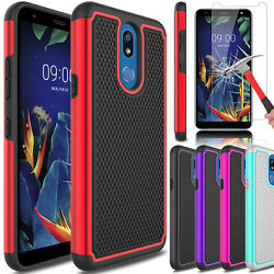 For LG K40Solo LTE (2019)K12+ Plus Shockproof Case Cover With Screen Protector