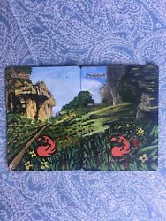 Amazing MTG ALTERED 1X2...MOUNTAINS ORIGINAL 100%HAND-PAINTED ~Art By Angela