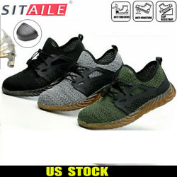 Men's Safety Work Shoes Indestructible Steel Toe Ventilation Bulletproof Boots