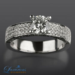 Marriage Diamond Ring F VS2 Round Cut 2.25 CT Solitaire With Accents