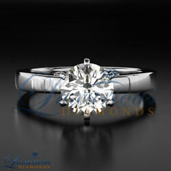 Promise Diamond Ring Round Cut Solitaire 2 13 Carat H SI 14K White Gold