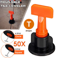 50100x Flat Ceramic Floor Wall Construction Tools Reusable Tile Leveling System