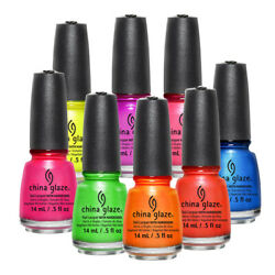 China Glaze Nail Polish Lacquer Creme Shimmer Glitter 99 Colors To Choose From