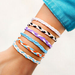 Charm Womens Bracelet Boho Colorful Adjustable Braided Rope Anklet Beach Jewelry