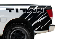 Vinyl Graphics Decal Wrap Kit for Nissan Titan 2004-13 Rear Quarter MATTE BLACK