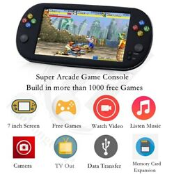 Handheld 7 inch Retro Video Game Console for ps1 for neogeo bit games 8GB