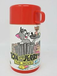 Aladdin Vintage Thermos Only 1992 Tom And Jerry The Movie Cat Mouse 6.5quot; Loose $18.00
