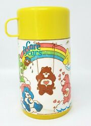 Aladdin Vintage Thermos Only 1985 Care Bears Yellow Rainbow Clouds Star 6.5quot; EUC $22.00