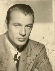 GARY COOPER - AUTOGRAPHED INSCRIBED PHOTOGRAPH