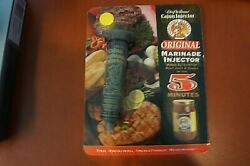 NEW CHEF WILLIAMS  CAJUN INJECTOR  ORIGINAL MARINADE INJECTOR 5 MINUTES