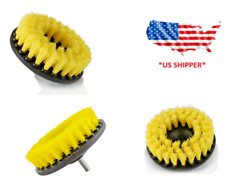 5 inch drill brush for Car Carpet wall and Tile cleaning MEDIUM DUTY YELLOW $7.69