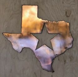 Texas with Star Wall Metal Art with Rustic Copper Finish Hanging 18quot; $39.00