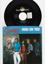 SURVIVOR - HIGH ON YOU - 45rpm + PS  (A)