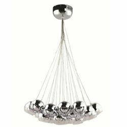 Cup20quot; light Modern Mirror Bulb Hanging Chandelier Silver $353.99