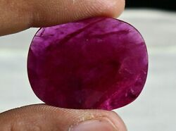 32X25 MM NATURAL HEATED MOZAMBIQUE RUBY OVAL CUT 38 CARATS GEMSTONE RING PENDANT