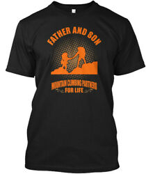 Father And Son Mountain Climbing For Lif Hanes Tagless Tee T-Shirt