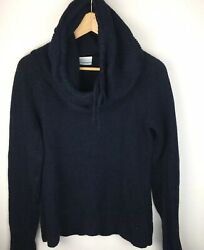 Columbia Women's She Pines Alpine II Pullover Sweater Pullover Cowl SZ M BLUE