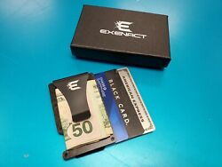 Exenact Forged Carbon Fiber Wallet Money Clip RFID Blocking Credit Card Holder