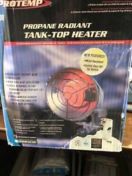 Protemp Propane Radiant Tank Top Heater 15000 BTU NEW FREE shipping $49.99